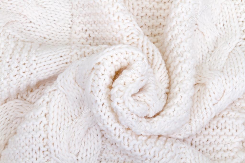 bufanda hecha punto blanco — Fotos de Stock © tirlikk #92611760