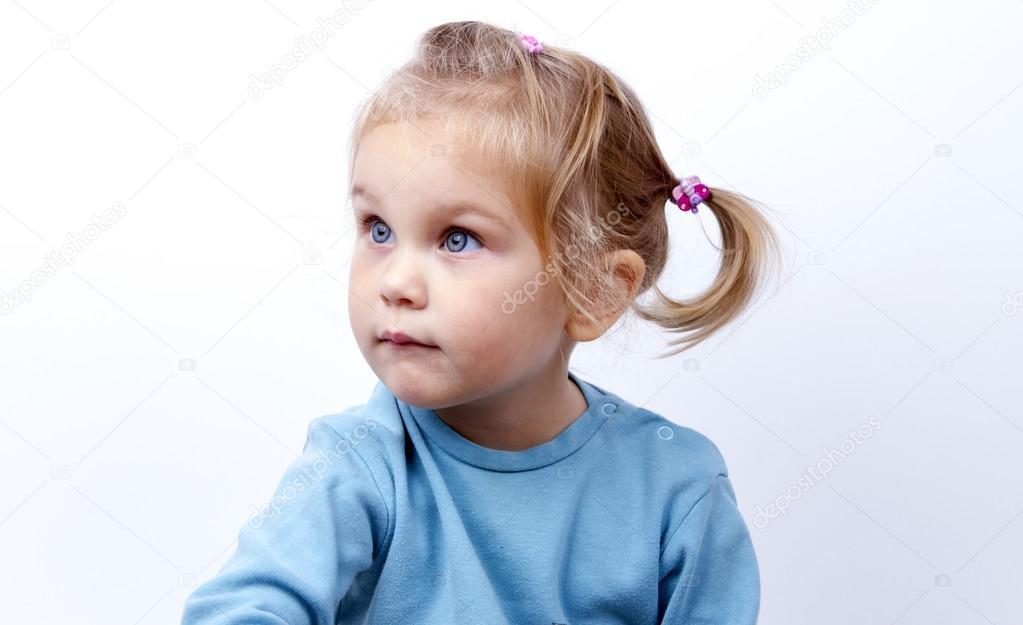 Child portrait looks away — Stock Photo © tirlikk #95214646