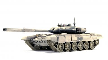 T-90 Main Battle Tank, isolated on white background