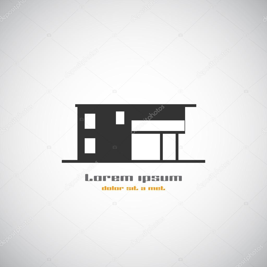 Abstract Architecture Building Silhouette Vector Logo