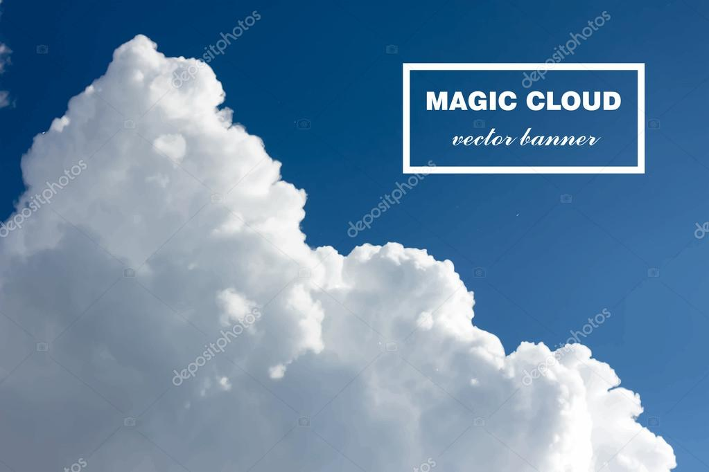 Vector abstract cloud banner.