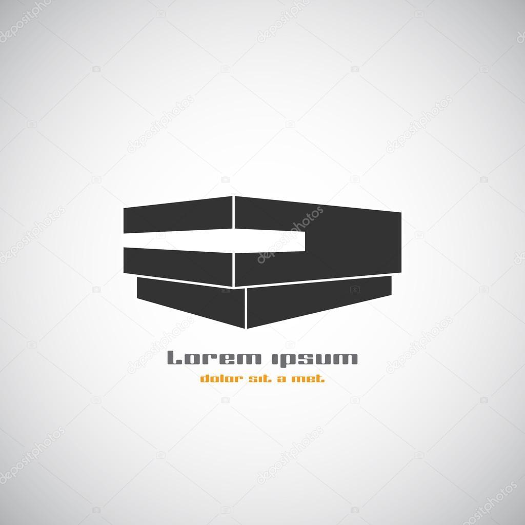 Abstract architecture building silhouette vector logo design template. Skyscraper real estate business theme icon.