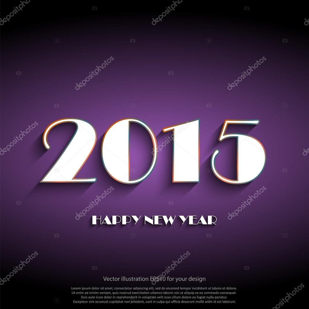 Happy New Year 2015 Greeting Card Stock Vector Whilerests 59045779