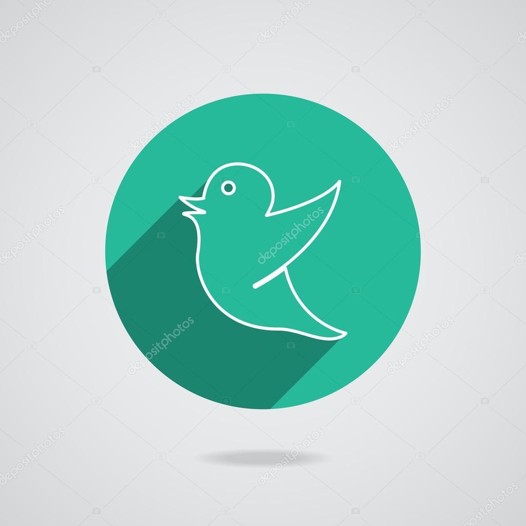 Vykres Ptak Pro Socialni Media Znacky Stock Vektor C Whilerests