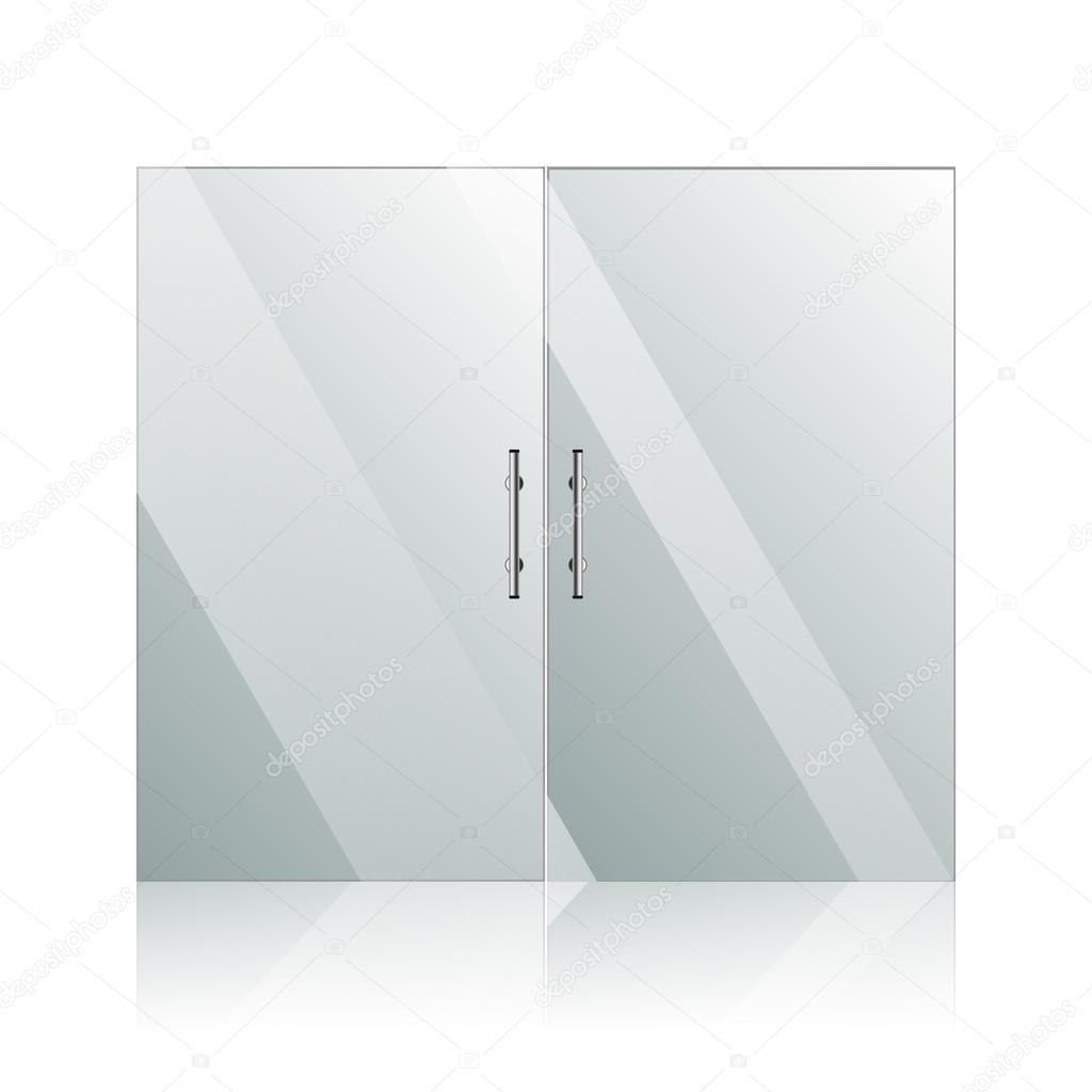 Manijas puertas de vidrio con cromo plata vector de for Manijas para puertas de vidrio