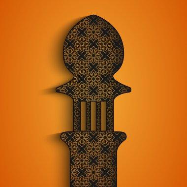 Greetings background for Ramadan Kareem
