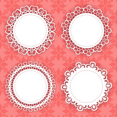 Set of 4 lacy frames