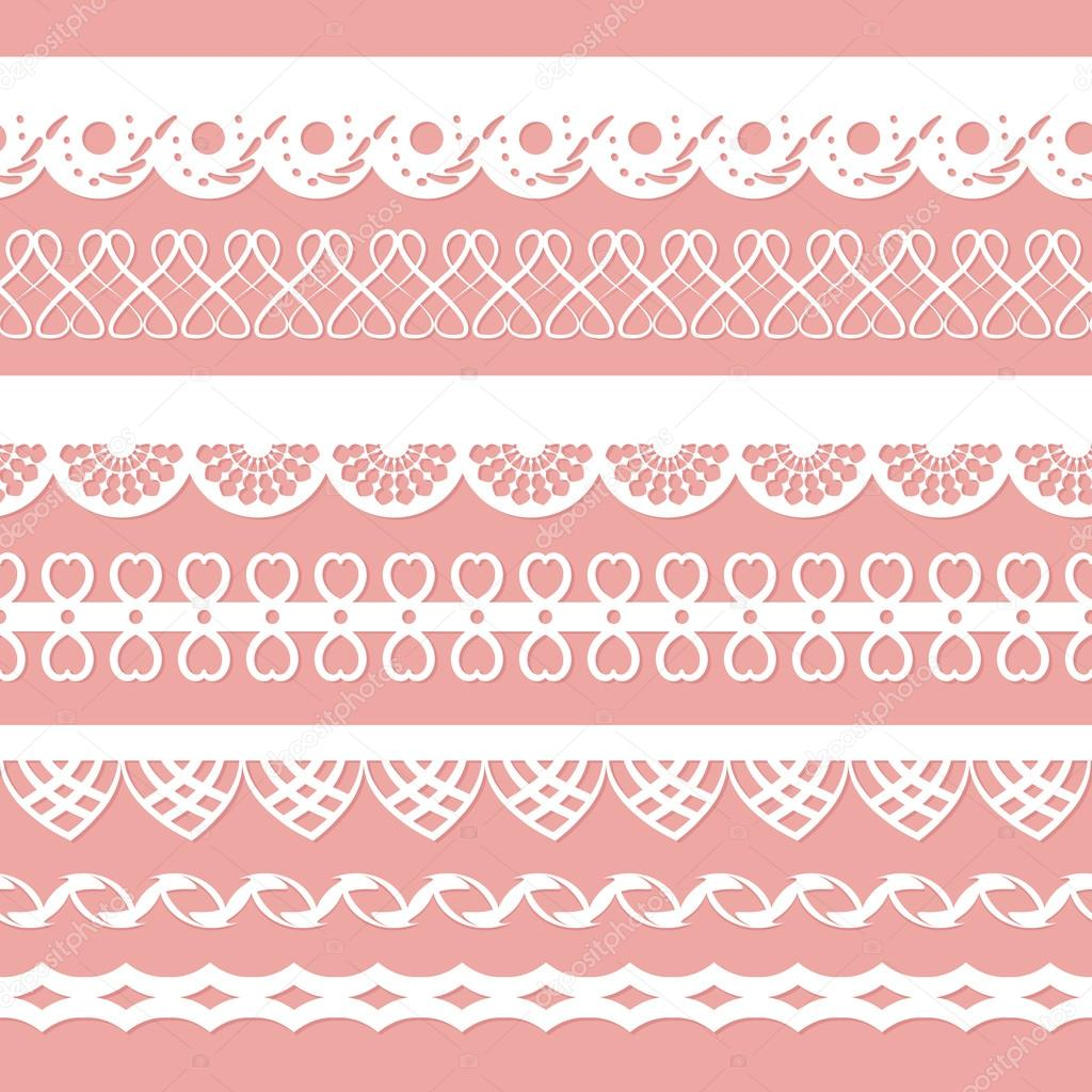 Set of laces for scrapbook