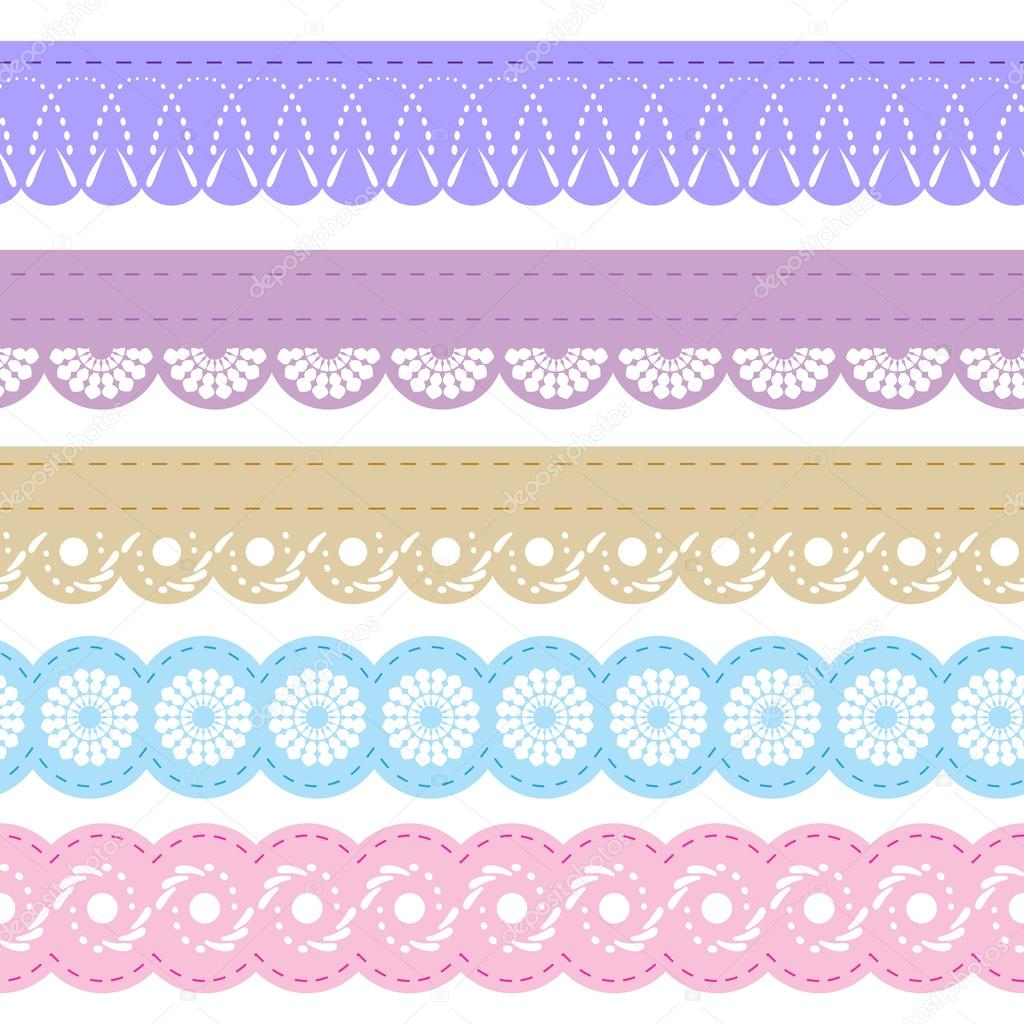 Laces for scrapbook