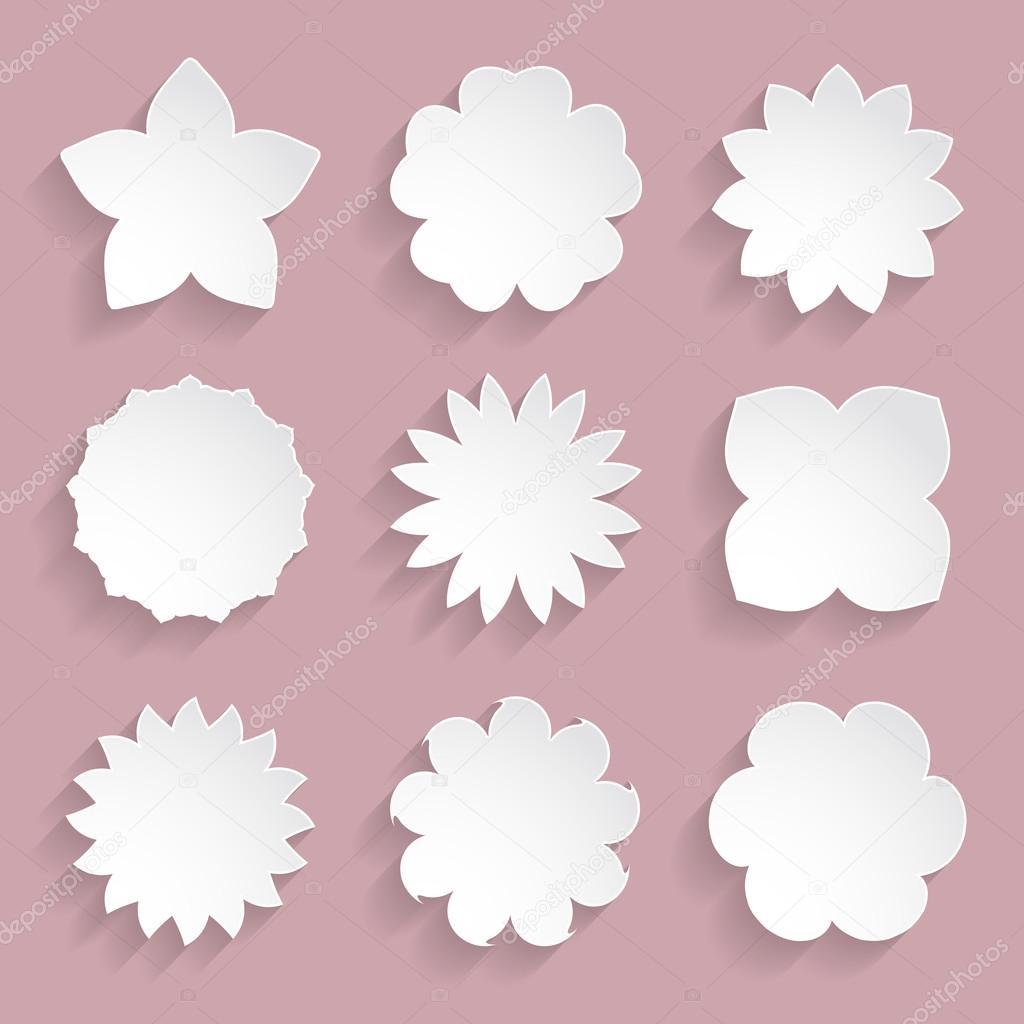 Marcos flores de papel — Archivo Imágenes Vectoriales © irochka1 ...