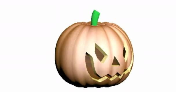 vyřezávaná jack-o-lucerna na Halloween v říjnu