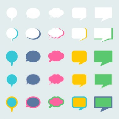 Speech bubble graphic in different style are easy to use for comic or quote for important speech. clip art vector