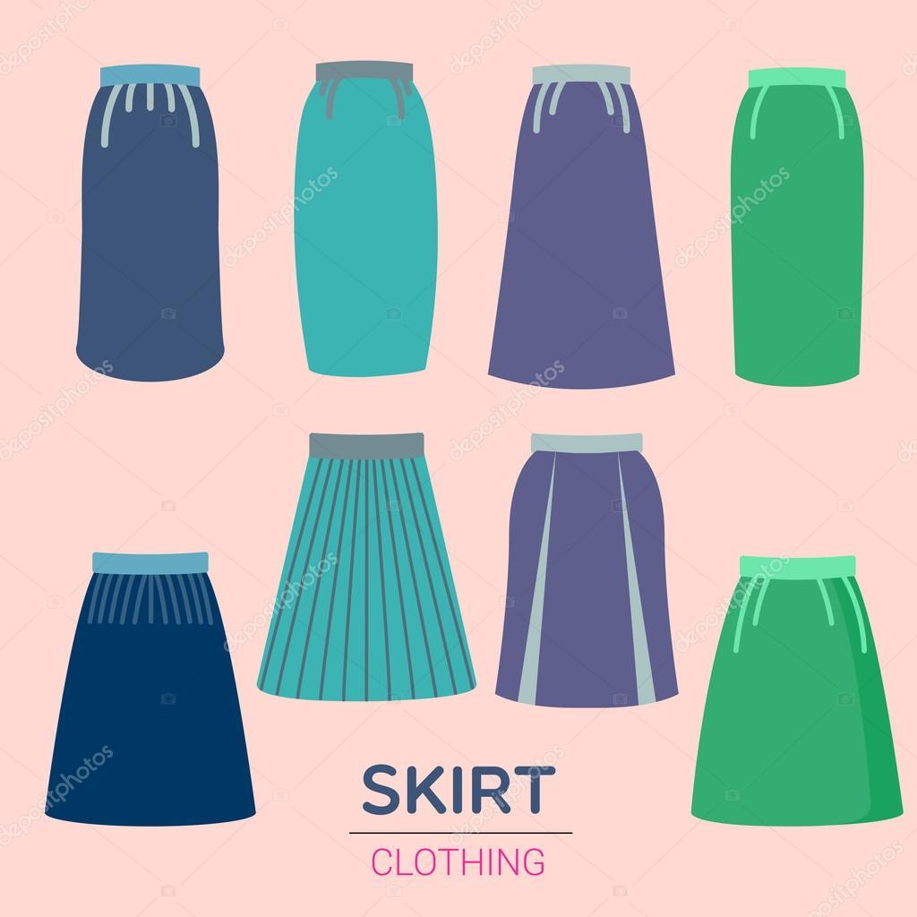 2bb430f28 Falda de Color clásico — Archivo Imágenes Vectoriales © commonthings ...
