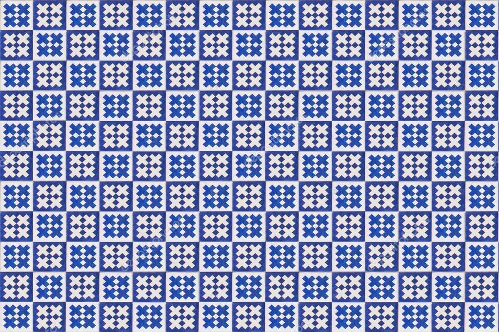 textura do azulejo mosaico azul em lisboa u fotografia de stock