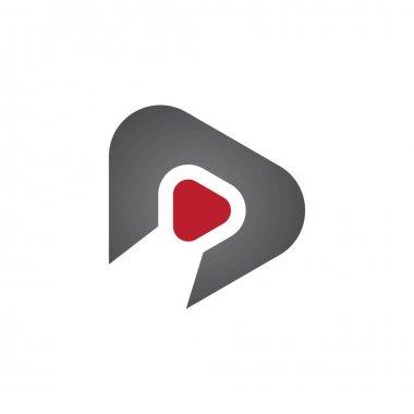 Play logo vector template design icon