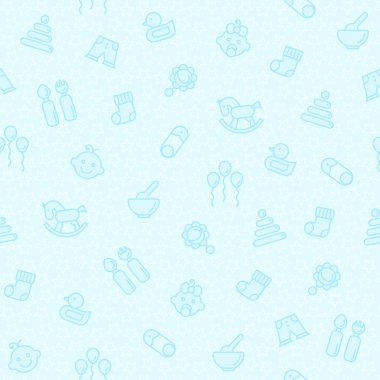 Seamless blue pattern for baby