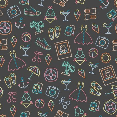Pattern with summer symbols.