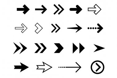 A big set of modern vector arrows. Nice and simple collection of signs and symbol. Pixel perfect UX UI icon