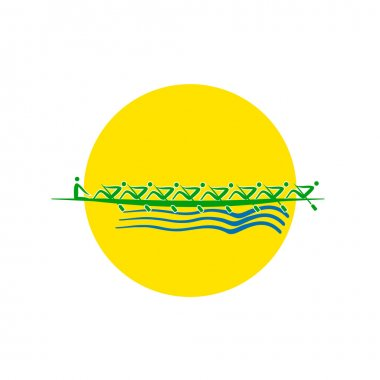 Summer Olympic games logo Rowing Group of Eight. Vector