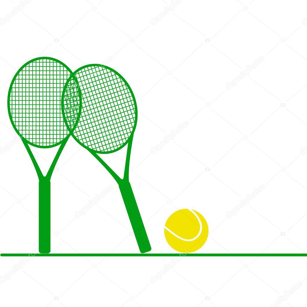 more photos 42ce8 1f923 Tennisausrüstung. Symbol — Stockvektor © StefanuKa #119774488