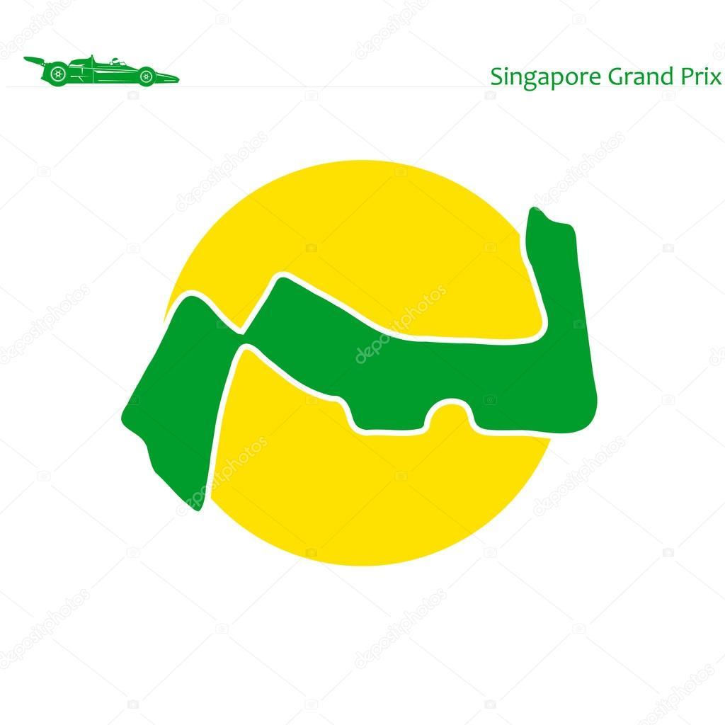 Circuito Singapur : Gran premio de singapur circuito singapur u2014 vector de stock