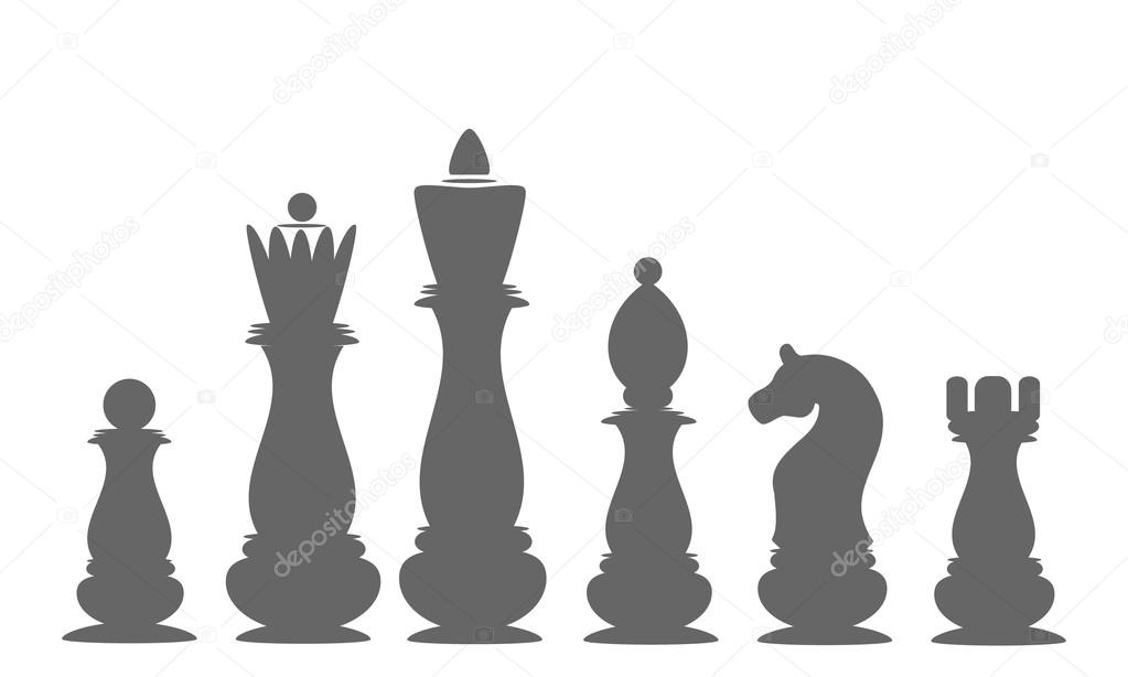 Icons Chess Pieces The King Queen Bishop Rook Knight Pawn