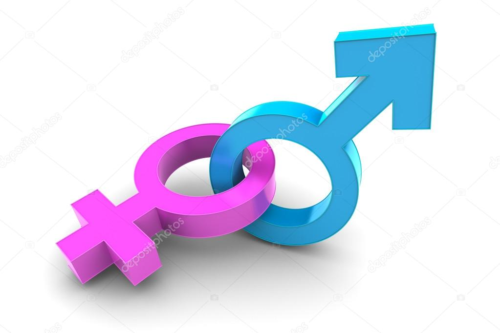 Male And Female Gender Symbol Stock Photo Dondesigns 53344557