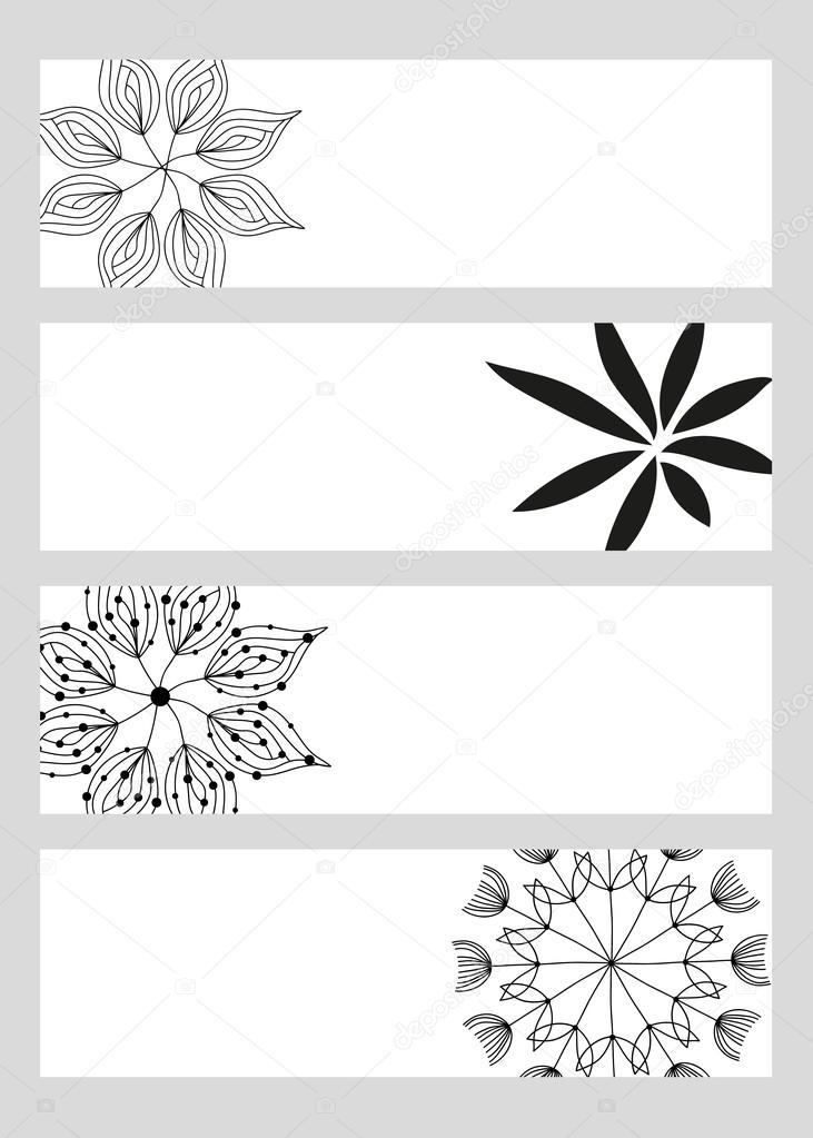 Samples of business cards flowers
