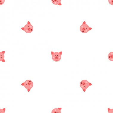 pigs vector seamless pattern