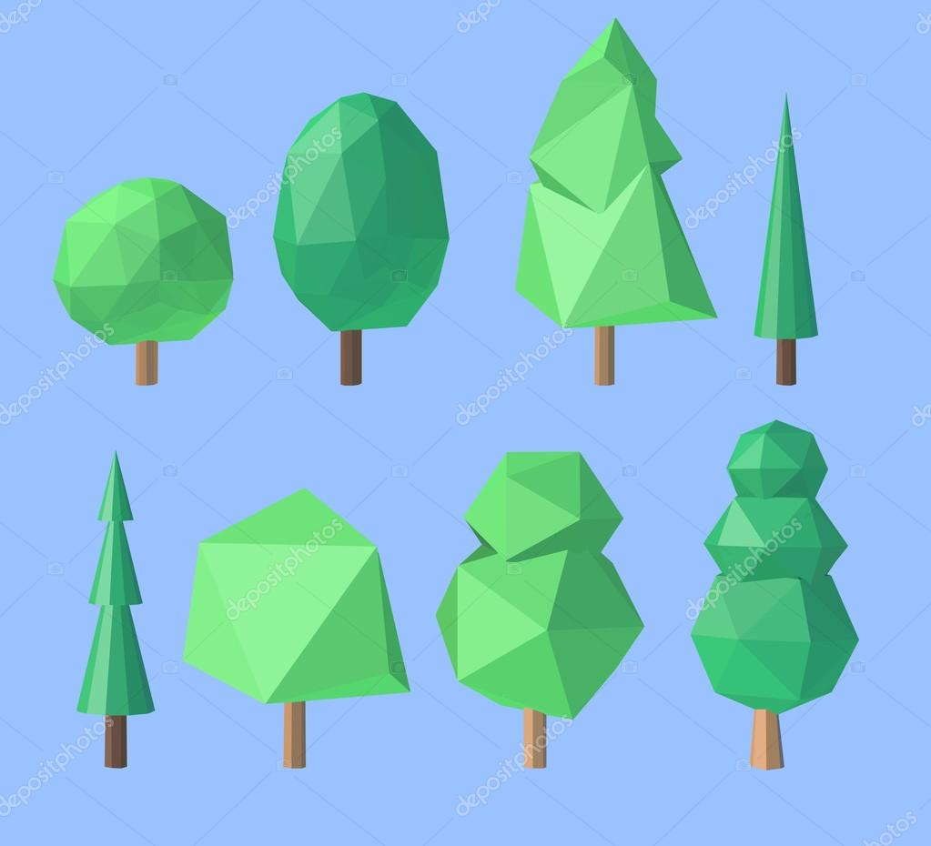 Set of polygonal trees