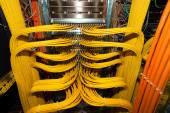 Fotografie Großes Netzwerk Patchpanel in einem Rechenzentrum für das lokale Netzwerk