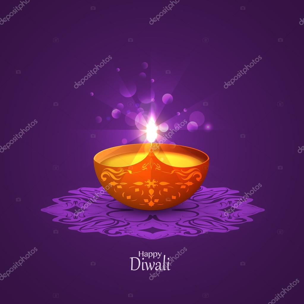 Diwali Greeting Card Stock Vector Chalapan 122186798