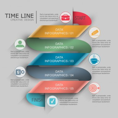 Band infographics time line with icons