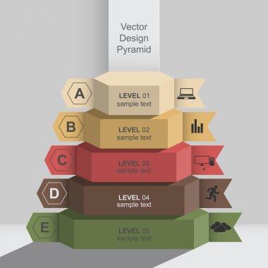 3d graphic design infographics pyramid data