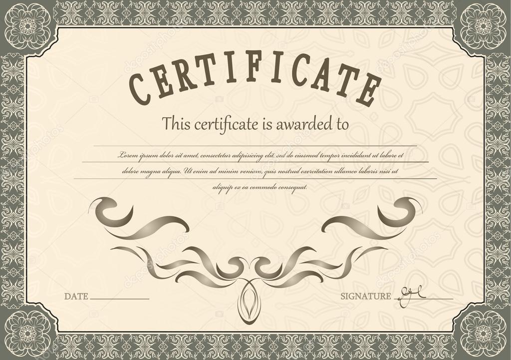 Glückwünschende Zertifikat Vorlage — Stockvektor © Chalapan #82774990