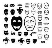 Divadelní masky ikona kolekce