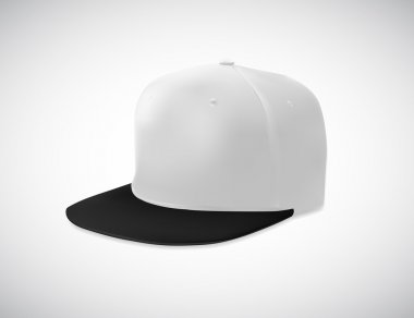 Flat bill cap template
