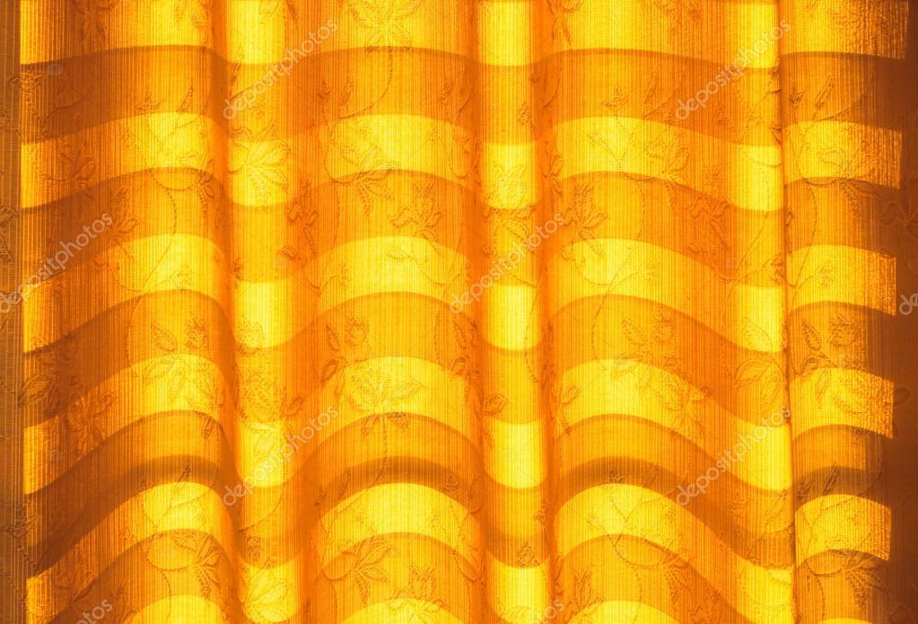 Warme Toon rolluiken of gordijnen en abstracte natuurlijk zonlicht ...