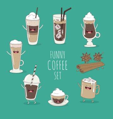 Funny coffee set