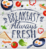 Breakfast poster chalkboard.