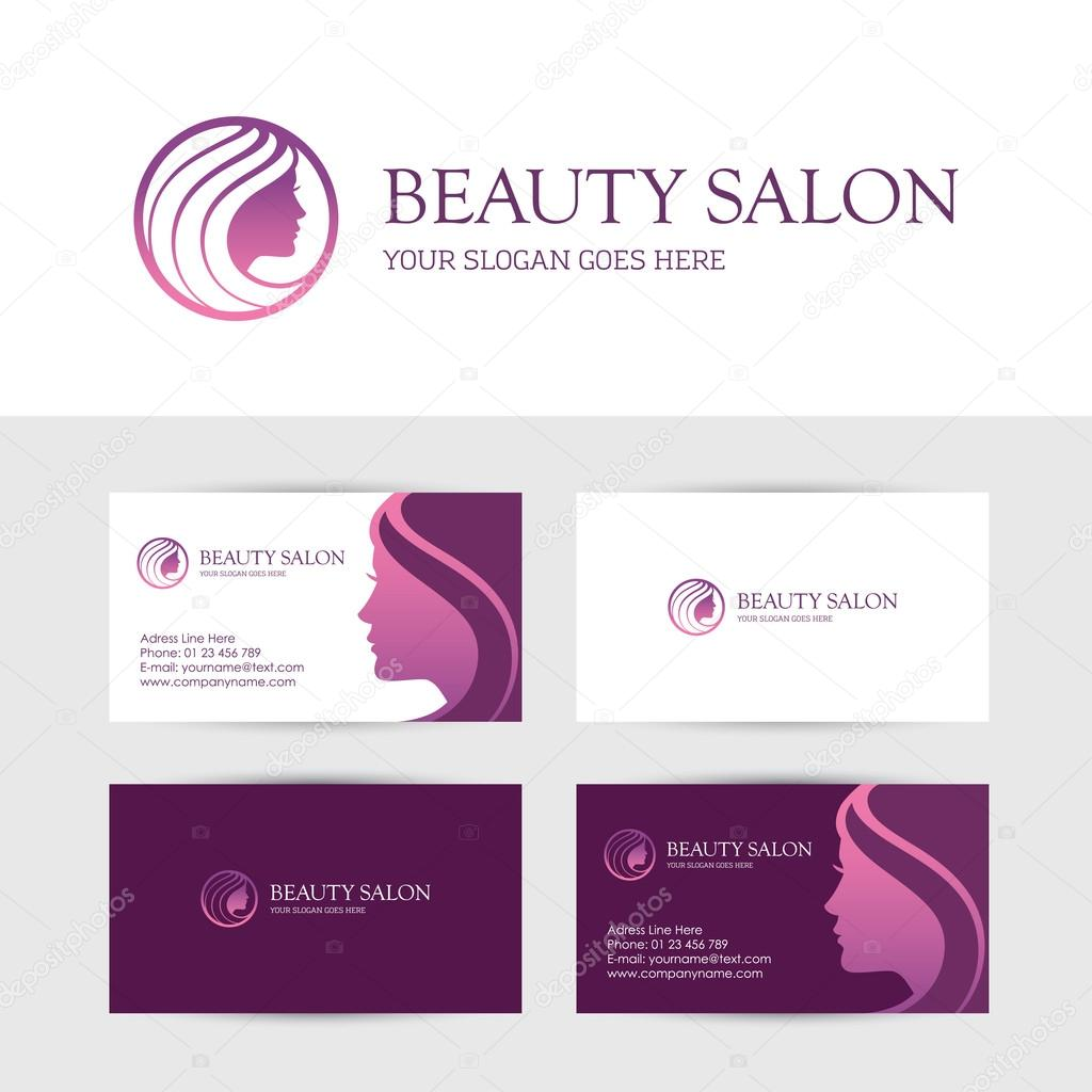 Beauty salon business cards design — Stock Vector © maglyvi #102717836
