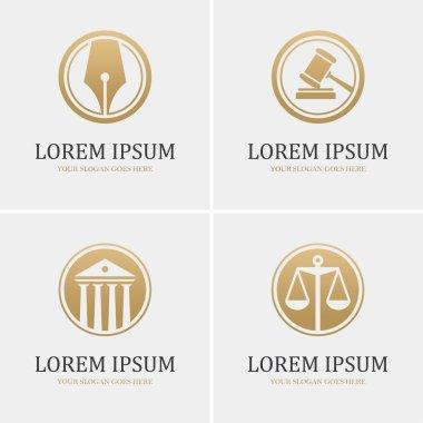 Four round law logo