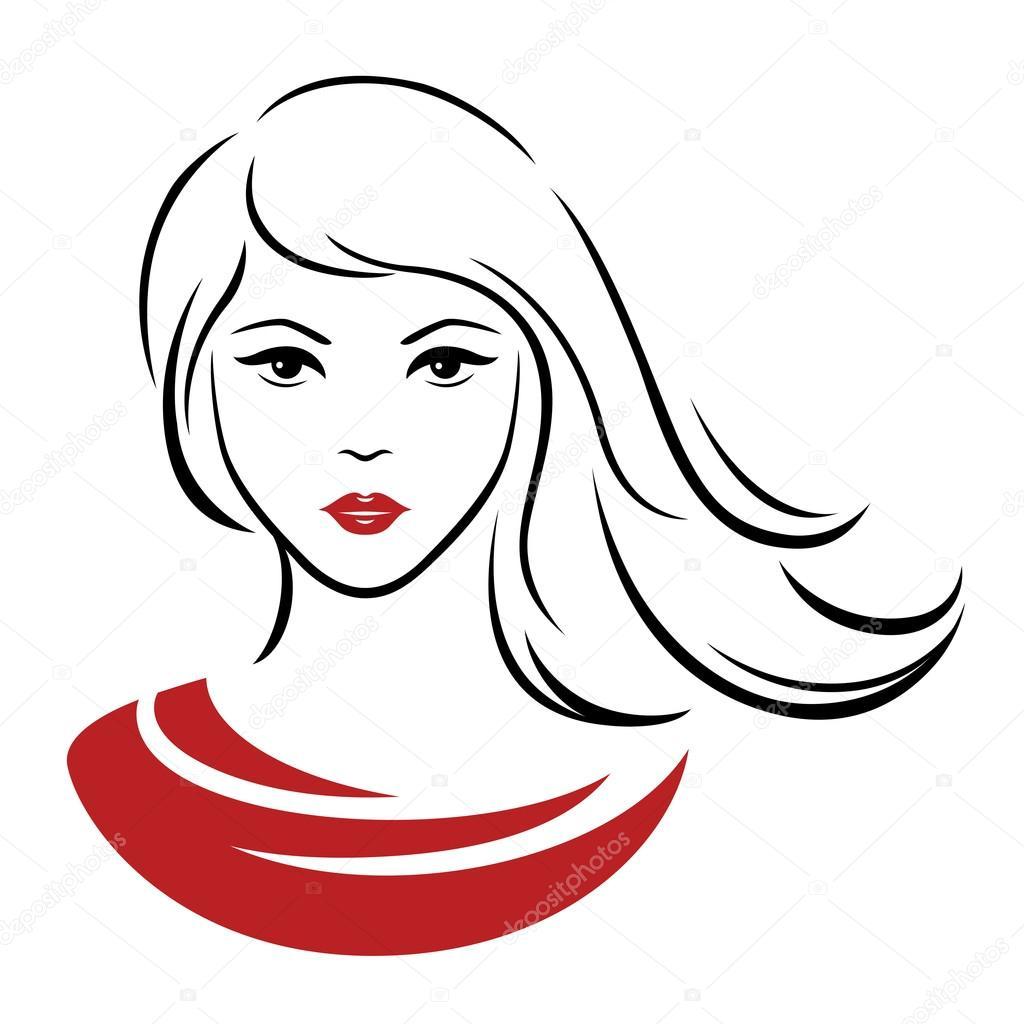 Ilustración De Vector De Línea Mujer