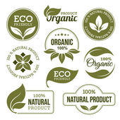 Fotografie Green Organic Products Labels