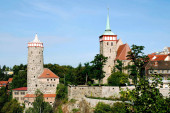 Old Town of Bautzen in Saxony with the Old Waterworks and Church Saint Michael - Germany..