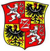 Coat of arms of the Saxon city Zittau in the Upper Lusatia - Germany.