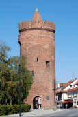 Luckauer tower in Beeskow in Lower Lusatia - Germany.