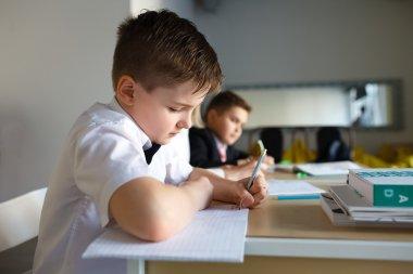 School. children learn in school. training students