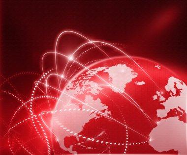 Global business network stock vector