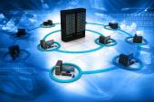 Fotografie Computer-Netzwerk und Internet-Kommunikation-Konzept